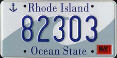 """Ocean State"" License plate, Rhode Island & Providence"