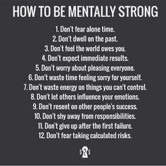 Mentally strong.