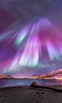 Colorful Aurora Night, Northern Norway