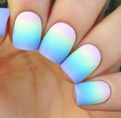 Simple pastel rainbow gradient any suggestions for what I can add on top? Feel f… - Nageldesign Cute Acrylic Nail Designs, Best Acrylic Nails, Summer Acrylic Nails, Stylish Nails, Trendy Nails, Nagellack Design, Glow Nails, Glamour Nails, Fire Nails