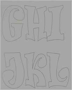 Letras 9 Graffiti Designs, Calligraphy Alphabet, Alphabet Fonts, Bubble Letters, Educational Crafts, Letter Stencils, Block Lettering, String Art, Coloring Books