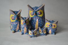 Hey, I found this really awesome Etsy listing at https://www.etsy.com/listing/174142842/set-of-6-vintage-hand-painted-owls