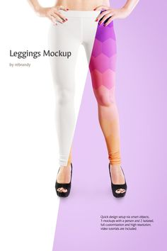 Showcase a branding design and relate to your potential consumers by simply uploading an image onto the template. A fully editable layered design of Leggings Product Mockup  allows you to customize the interface of your item according to your needs. #leggins #womenfashion #clothingwebsite  https://www.templatemonster.com/product-mockups/leggings-product-mockup-68678.html/