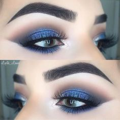 "1,334 Likes, 10 Comments - LUXY LASH (@luxylash) on Instagram: ""Smokey blue glam by ✨@lupita_lemus✨ wearing #LuxyLash ""KEEP IT 100"" lashes! Ultra wispie lashes &…"""