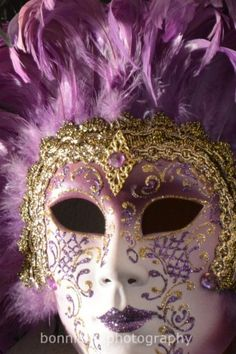 Venetian Mask in Purple signed original photographic print | BonnieFoxPhotography - Photography on ArtFire