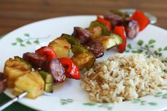 Aloha Kebabs with Sesame Rice + America's Test Kitchen Cookbook Giveaway - aggies kitchen