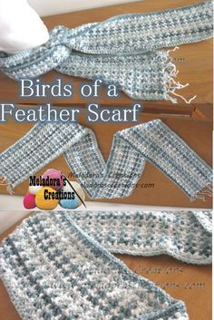 Your place to learn how to Crochet the Birds of a Feather Scarf for FREE. by Meladora's Creations - Free Crochet Patterns and Video Tutorials
