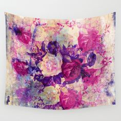 bouquet de roses Wall Tapestry SOLD! 5$ off and free shipping! https://society6.com/clemm?promo=X9B3VVZDM7J6