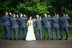 Cute wedding pose.