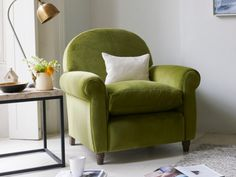 Living Room Green Couch Colour Schemes Chairs 16 Ideas For 2019 Eclectic Dining Chairs, Funky Chairs, Cool Chairs, Ikea Chairs, Modern Chairs, Green Chairs, Big Comfy Chair, Big Chair, Green Armchair