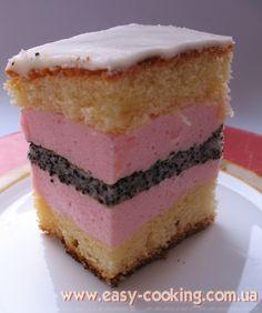 Ukrainian Poppy Plyatsok, or Poppy Seed Cake Cake Ingredients, Ukrainian Recipes, Russian Recipes, No Bake Desserts, Delicious Desserts, Whole Food Recipes, Cake Recipes, Cake Varieties, Gourmet