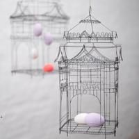 Easter eggs in a wire cage