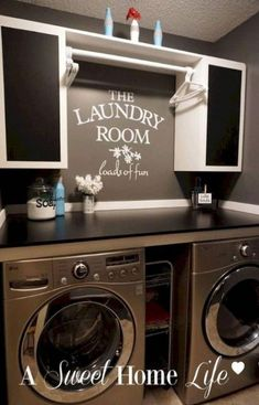 Design Ideas for your Laundry Room Organization Modern Navy Laundry Room Design Idea Refresh Laundry room organization Small laundry room ideas Laundry room signs Laundry room makeover Farmhouse laundry room Diy laundry room ideas Small Laundry Rooms, Laundry Room Design, Laundry In Bathroom, Basement Laundry, Laundry Decor, Ikea Laundry, Laundry Room Colors, Laundry Room Ideas Garage, Laundry Room Decorations
