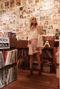 Bohemian fashion brand Spell & The Gypsy Collective's collection features romantic pieces full of whimsy, with a twist of edge, & dash of boho style. Gypsy, Boho Fashion, Vintage Fashion, Collections Photography, Moda Boho, Vinyl Music, Vintage Vinyl Records, Silk Slip, Music Photo