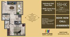 Check out the floor plan for 1 BHK flat at Neptune Triveni Sangam. 1 BHK at Rs 18.86 Lacs only.... http://neptunedeveloperscomplaints.wordpress.com/