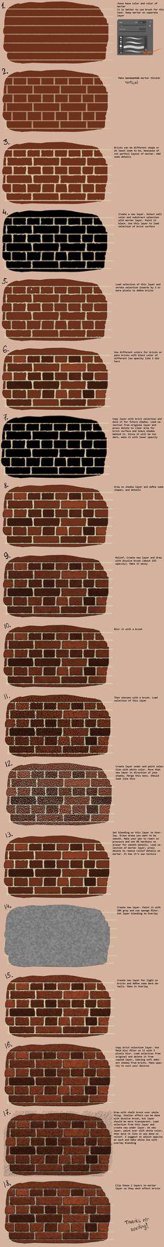 Digital art tutorial - brick wall