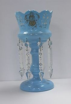 Bristol Glass Blue Lustre Hoo852