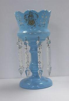 Bristol Glass Blue Lustre Hoo852
