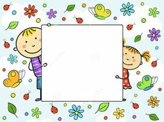 Illustration of Children's frame. vector art, clipart and stock vectors. Page Borders, Borders And Frames, School Border, Cute Frames, Illustration, Free Vector Art, Paper Art, Doodles, Clip Art