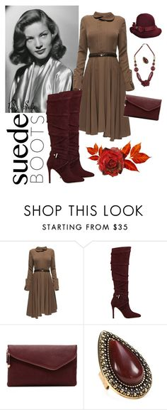 Style Staple: Suede Boots - Contest by selene-cinzia on Polyvore featuring Lattori, GUESS, Urban Expressions, NOVICA, Samantha Wills and suedeboots