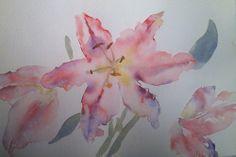 Lilies, watercolour, 2014 practice