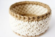 work in progress: jute and cotton crochet basket – JaKiGu