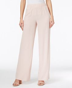 INC International Concepts Crepe Wide-Leg Pants, Only at Macy's