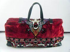 Vintage 1960s huge gypsy CARPET BAG hinged by sugarshackvintage, $195.00