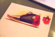 sketch sneaker by Roshan Hakkim