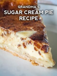 Sugar Cream Pie - just like grandma made! Sugar Cream Pie - just like grandma made! Tolle Desserts, Köstliche Desserts, Delicious Desserts, Paleo Dessert, Dessert Recipes, Snickers Torte, Blueberry Cream Pies, Banana Cream, Biscuits