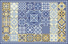 AZULEJOS love the collection of projects at this site. Beautiful gallery, too, to help inspire color choices Cross Stitch Freebies, Cross Stitch Samplers, Cross Stitch Charts, Cross Stitch Designs, Cross Stitching, Cross Stitch Patterns, Blackwork Embroidery, Cross Stitch Embroidery, Embroidery Patterns