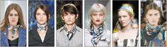 Os lenços, echarpes, mantas continuam em alta nas coleções de moda europeias...