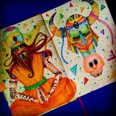 Sketchbook 01 por Julia Guedes ♥ #sketchbook #ilustration #nankin #stabilo #drawing #art