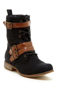 Bucco Mesa Buckle & Lace-Up Boot from HauteLook on shop.CatalogSpree.com, your personal digital mall.