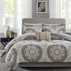 7 PC Black and Grey Micro Suede Striped Comforter Set. 5 PC set Includes: 1 Twin Comforter: x 1 Bed Skirt: x drop. Queen Comforter x 2 Shams x Each. Full Comforter X 2 Shams Each. Twin Comforter Sets, King Comforter, Bedding Sets, Grey Comforter, Queen Bedding, Echo Bedding, Bedding Decor, Tahari Bedding, Bed In A Bag