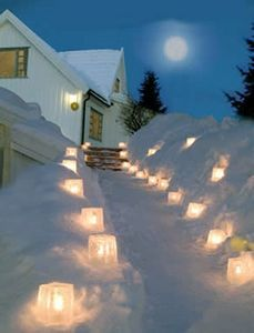 How to Make Ice Lanterns - we love creating these when the weather cooperates. I fill balloons with water to create a rounder shape and use them as part of our dinner table decor. Just remember to watch for water overflow as the lantern melts.