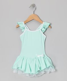 Take a look at this Mint Bow Skirted Leotard - Toddler & Girls by Body Wrappers on #zulily today!