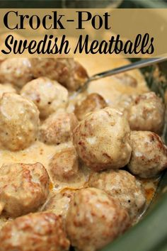 Super Simple Crock-Pot Swedish Meatballs Looking for an easy main dish or appetizer? Try this recipe for Crock-Pot Swedish Meatballs. They taste great on their own or served over egg noodles. Crock Pot Food, Crockpot Dishes, Crock Pot Slow Cooker, Slow Cooker Recipes, Beef Recipes, Cooking Recipes, Chicken Recipes, Slow Cooking, Ground Beef