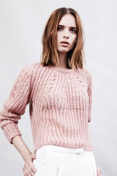 the pink knit