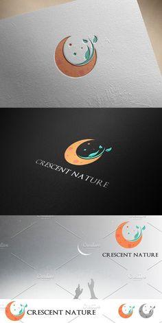 Crescent Moon Ecology Nature Logo is part of Natural logo - Logo Branding, Branding Design, Ecology Design, Moon Logo, Illustrator, Moon Design, Symbol Logo, Monogram Logo, Logo Design Inspiration
