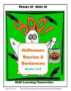 This fun bundle provides students with activities for writing sentences, slogans and stories - all with a Halloween theme!  Students in grades 1-3 will enjoy the fun graphics and learning activities!Find over 150 learning activities at the https://www.teacherspayteachers.com/Store/Kidz-Learning-Connections store.