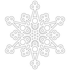 Free - A half dozen snowflakes to color from Don't Eat the Paste.