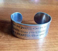 Promise you'll remember- AA Milne quote ... bracelet... on Etsy, £15.95