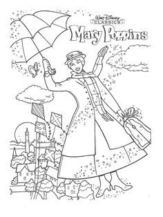 Mary Poppins Coloring Pages Google Search