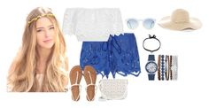 """""""Let's go to the beach!"""" by alicia-nanlohy on Polyvore featuring Miguelina, DANNIJO, Jessica Carlyle, Aéropostale, Under One Sky and Chico's"""
