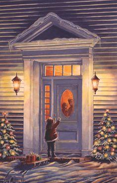 Beautiful Newfoundland artwork captured by artist Dave Hoddinott Christmas Scenes, Christmas Door, Christmas Time, Christmas Cards, Merry Christmas, Sun Drawing, Most Popular Artists, Dramatic Lighting, Spirited Art