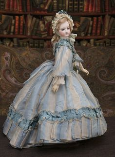 17 1/2 in (44 cm) Wonderful  Antique French Fashion Bru Doll with wooden Body