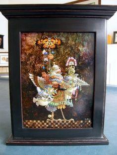 James Christensen - Butterfly Knight Original Oil Painting