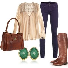 Thinking about fall weather! i could totally do this with the stuff in my closet =)