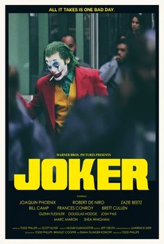 """theandrewkwan: """"theandrewkwan: """" JOKER is wrapped filming! Here's an alternative movie poster I did in two styles! Visit my SHOP """" Love that Joker teaser! Joker Poster, Movie Poster Art, Best Movie Posters, Cinema Posters, Joker Full Movie, Joker Film, Joaquin Phoenix, Thriller, Poster Minimalista"""